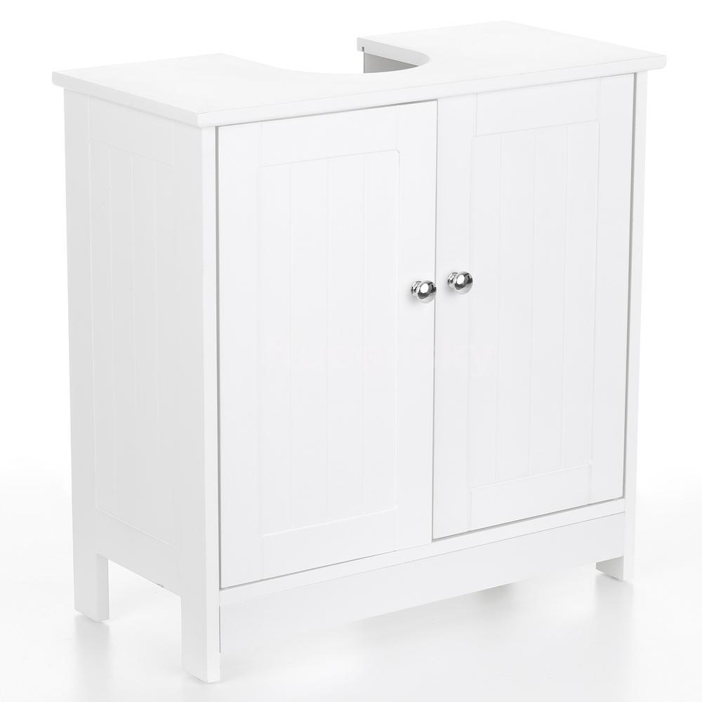 iKayaa Modern Under Sink Storage Cabinet Doors Bathroom Vanity Furniture T5D8
